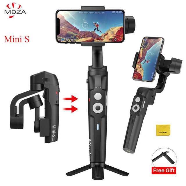Tay cầm Gimbal chống rung cho điện thoại Moza Mini S dùng quay phim, chụp ảnh làm Vlog, gấp gọn, Pin sử dụng lên đến 8H, HÀNG NHẬP KHÂU