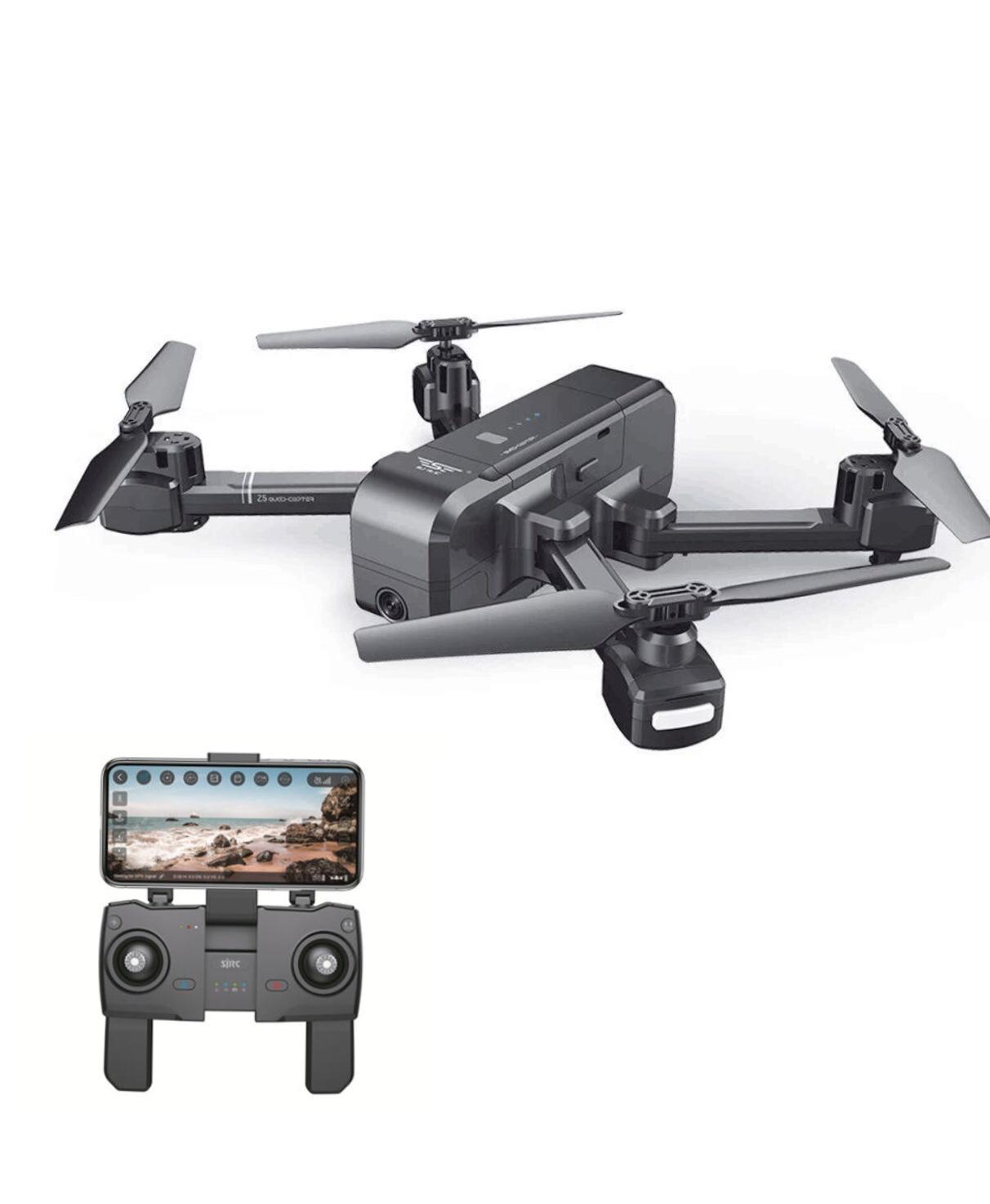 Flycam SJRC Z5 GPS, Camera 1080P/25fps, Xoay Góc 90 °, Follow Me, Chụp Ảnh Bằng Cử Chỉ, Gấp Nhỏ Gọn,Bay 600m