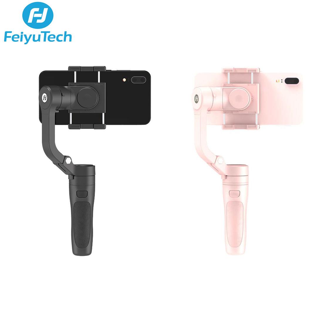 Tay cầm trống rung Feiyutech VLOG Pocket - Gimbal chống rung cho điện thoại, gập gọn nhỏ nhẹ nhất, PIN dùng liên tục trong 8H