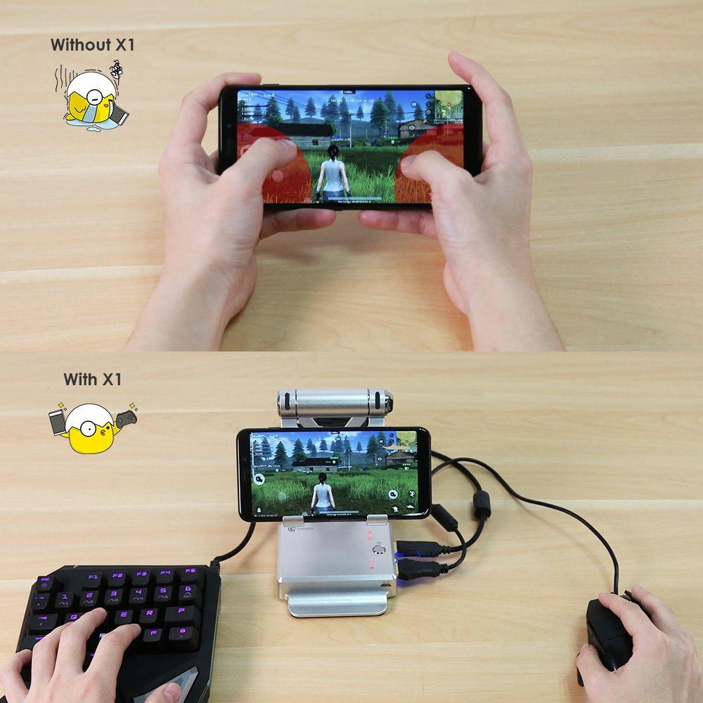Bộ Chuyển Đổi Hệ Game Gamesir X1 Battle Dock Bộ Chuyển Đổi Chơi Game PUBG Mobile , AOV , Mobile Legends , RoS, Knives Out, Free Fire - Bảo hành 12 tháng