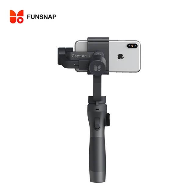 Tay cầm Gimbal chống rung GIMBAL FUNSNAP 2 cho điện thoại  dùng quay phim, chụp ảnh làm Vlog, Pin sử dụng lên đến 12H, CHÍNH HÃNG NHẬP KHẨU