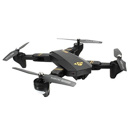 FLYCAM Visuo XS809HW - Máy Bay Cánh Gấp Bỏ Túi Điều Khiển Từ Xa, Camera HD Truyền Hình Trực Tiếp, Tích Hợp Chế Độ Không Đầu Đuôi, Nhào Lộn 360 độ, Tự Động Quay Về.