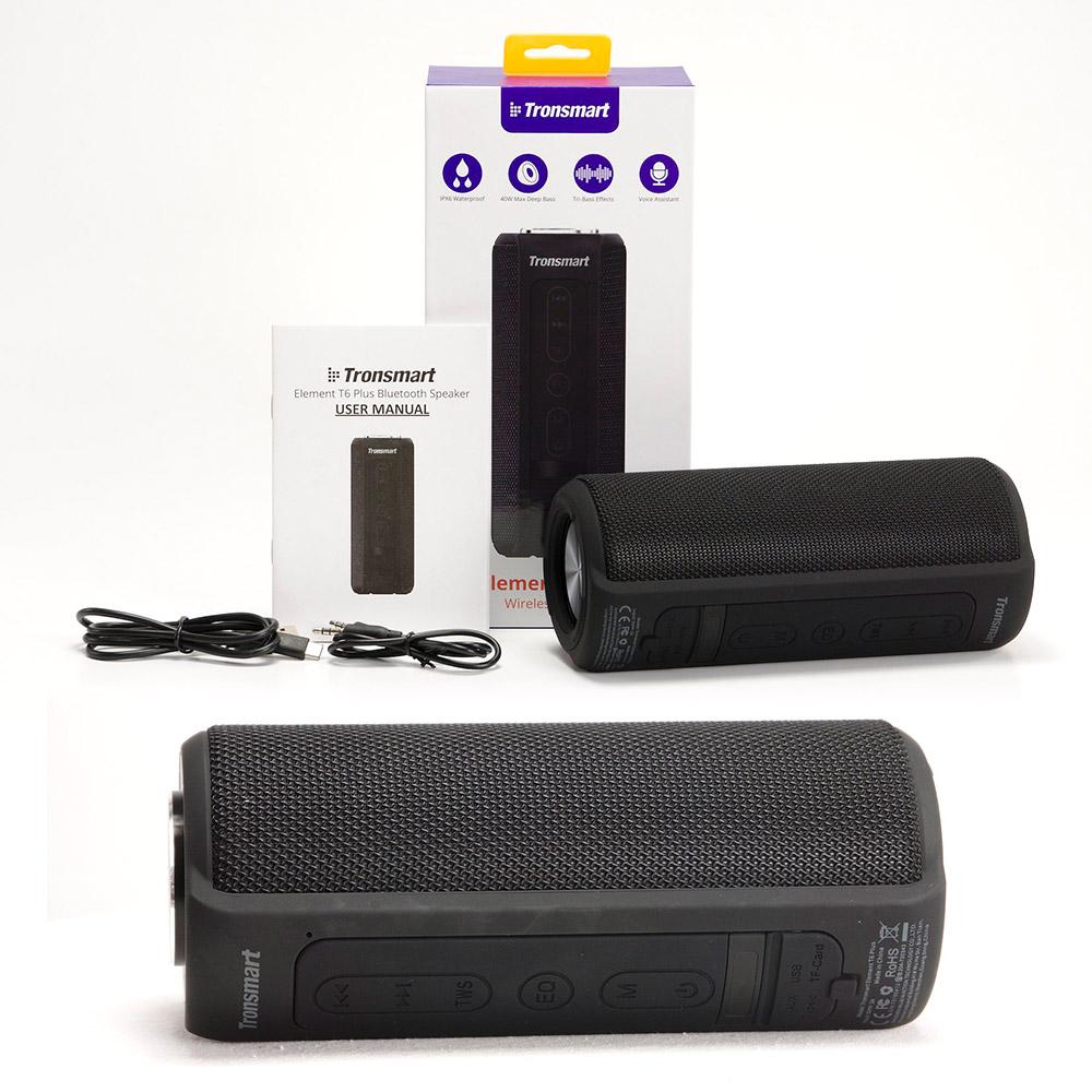 Loa Bluetooth Tronsmart Element T6 Plus Loa di động 40W Loa âm thanh trầm với Chống nước PX6, kiêm sạc dự phòng thuận tiện